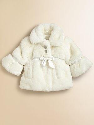 Armani Junior Infant's Faux Fur CoatJunior Infants, Armani Junior, 1St Birthday, Infants Faux, Baby Armani, Baby Girls, Children Fashion, Faux Fur Coats, Baby Fashion
