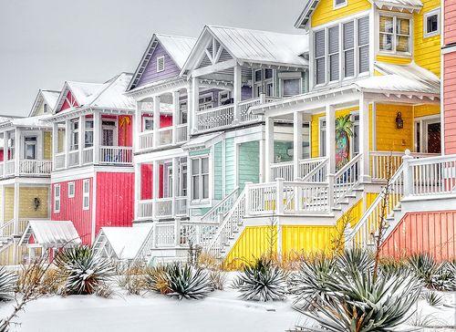 Colors in the Snow - Money Island Beach, Atlantic Beach, NC -- stunning!