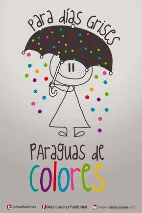 para dias grises paraguas de colores - Buscar con Google