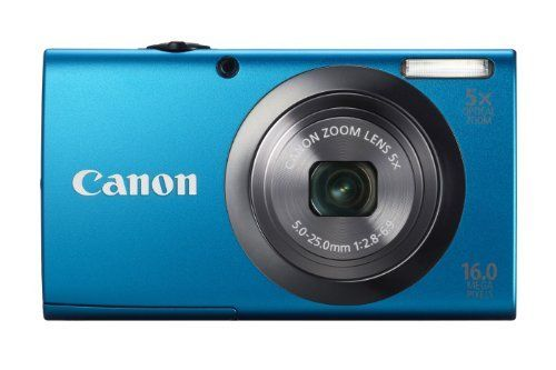 Canon PowerShot A2300 16.0 MP Digital Camera with 5x Digital Image Stabilized Zoom 28mm Wide-Angle Lens with 720p HD Video Recording (Blue) by Canon, http://www.amazon.com/dp/B0075SUI2A/ref=cm_sw_r_pi_dp_sbrwrb11Y5R4E