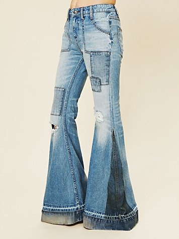 These are the most kickass jeans ever, I want them so bad! -Festy Super Flare Jeans @ freepeople.com