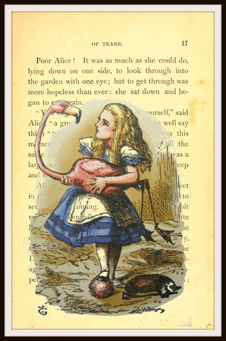 Alice In Wonderland Vintage Art Print 2 With Original