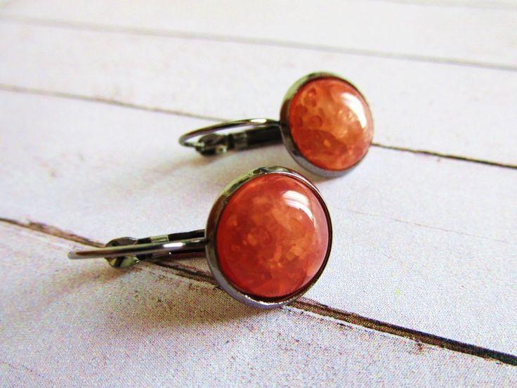 Pendientes de Clip con Piedra de Cristal de Niara Creations por DaWanda.com