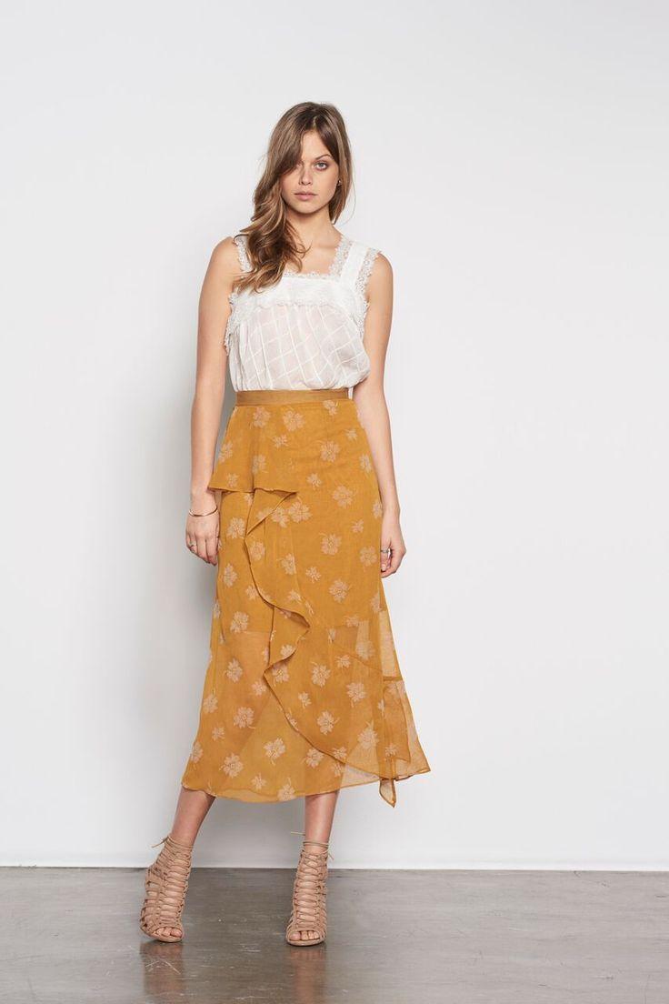 Stevie May - Golden Girl Asymmetric Skirt