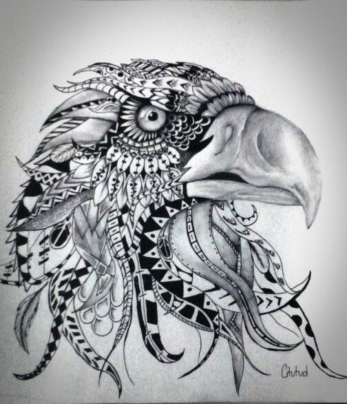 Doodle Eagle Drawn By C Itutud Using Ball Point Uni Pin Go Green Pinterest Eagle Drawing