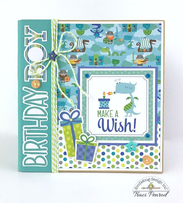 Hi Doodlebug fans!  It's Traci, from Artsy Albums , back to share a new album that I created with one of my favorite Doodlebug collections E...