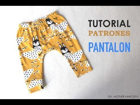 DIY Tutorial y patrones leggins de bebé (modelo 1) | Manualidades