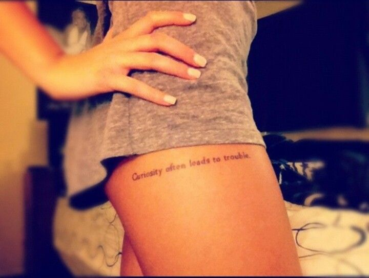 Upper thigh quote tattoo #sosexy