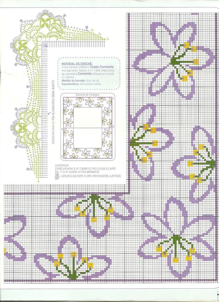 Fiori lilla - Bordura
