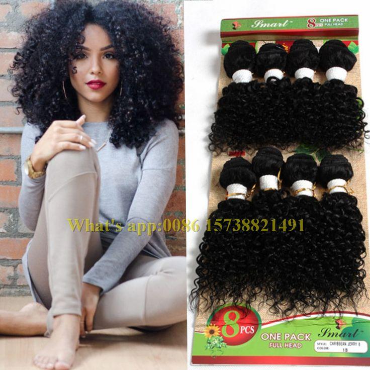 2017 inslag menselijk vlechten Eunice haar losse golf Braziliaanse jerry krullend haak hair extensions 8 stks gehaakte vlechten marley haar