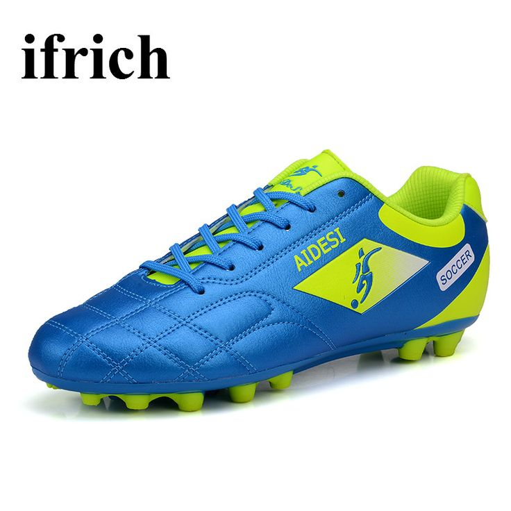 Football Shoes Children Blue/Black Soccer Cleats Men Cheap Ladies Football Boots Shock Absorbing Turf Soccer Shoes For Men