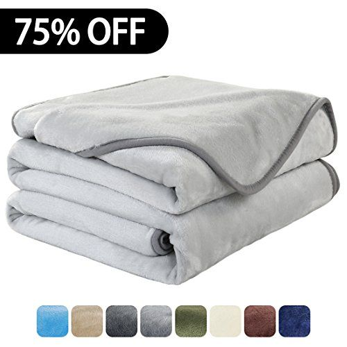 Luxury Fleece Super Soft Thermal Blanket Warm Fuzzy Microplush Lightweight Blankets for Bed Sofa, Seashell Series,Throw,50 by 61 Inches,Silver Gray.