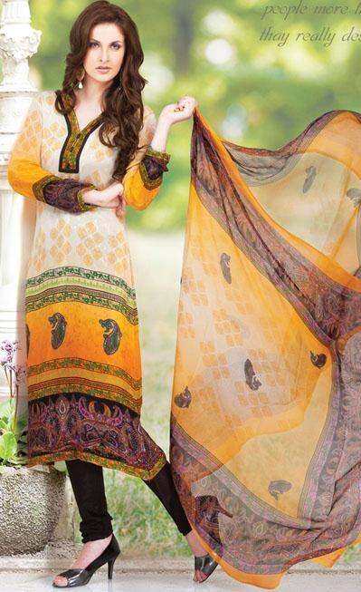 #Yellow #Full #Sleeve #Georgette and #Chiffon #Long #Pakistani #Salwar #Kameez .  http://www.shaadi.org.pk/