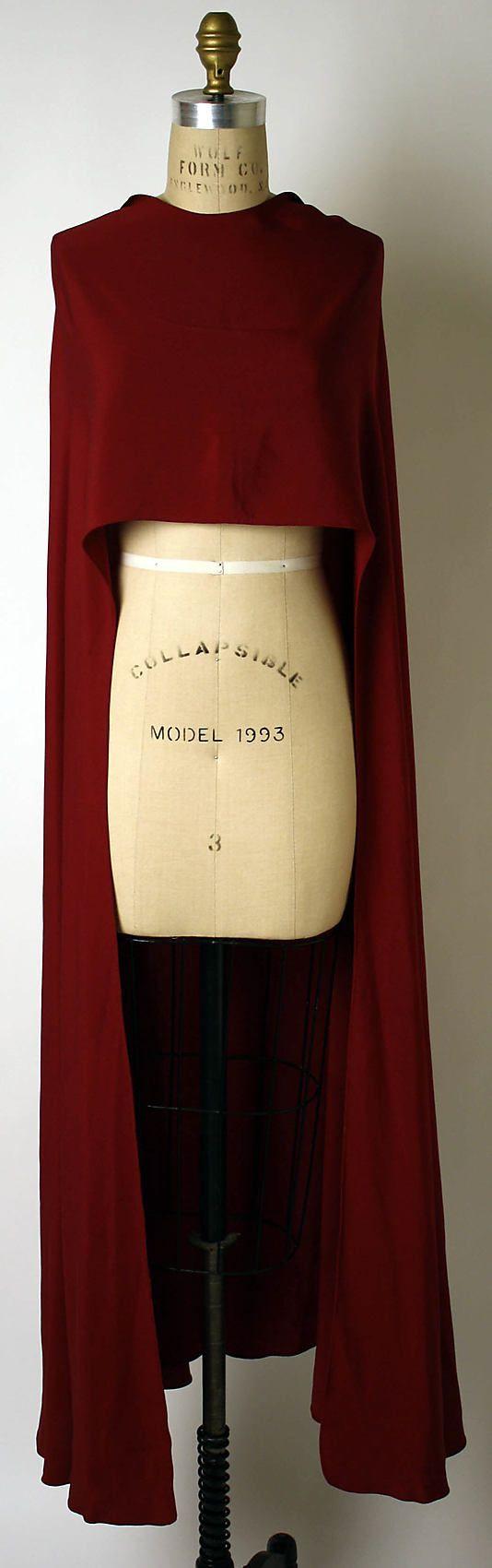 Evening wrap  Valentina  (American, born Russia, 1899–1989)  Date: late 1930s Culture: American Medium: rayon