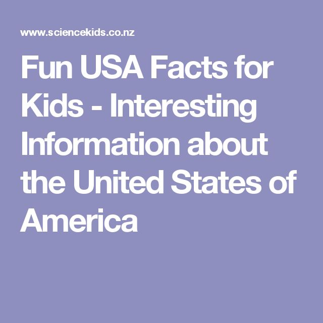 Fun USA Facts for Kids - Interesting Information about the United States of America