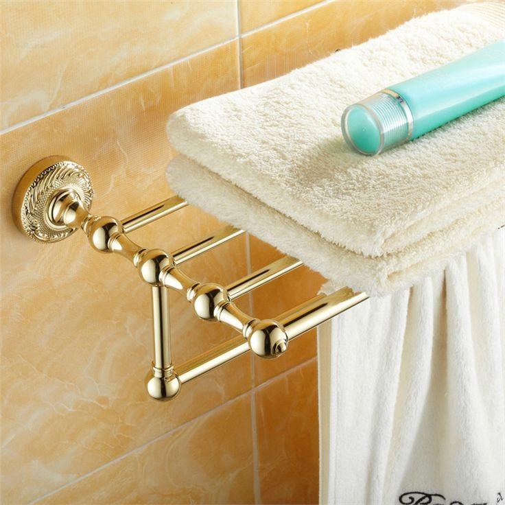 浴室タオルラック タオル掛け タオル収納 壁掛けハンガー バスアクセサリー Ti-PVD 金色 LWA134