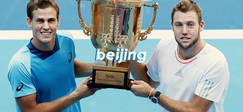 """Vasek Pospisil and Jack Sock + title in double """