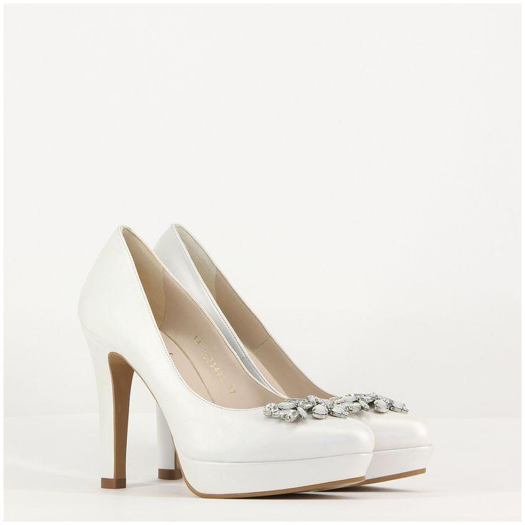 Zapato de novia Wasat con plataforma y pedrería