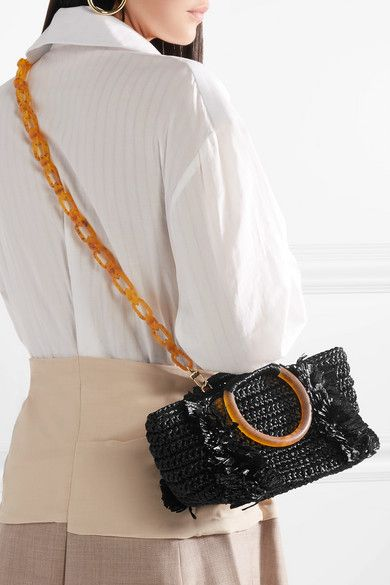 eae3b48caba3 Carolina Santo Domingo | Corallina raffia tote | NET-A-PORTER.COM | Trendy  Bags | Fashion, Handbag accessories, Net a porter