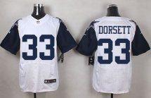 Dallas Cowboys #33 Tony Dorsett White NFL Elite Rush