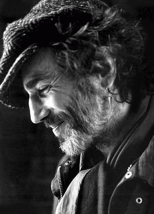 photo noir et blanc : Daniel Day Lewis, acteur de cinéma UK, portrait d'homme