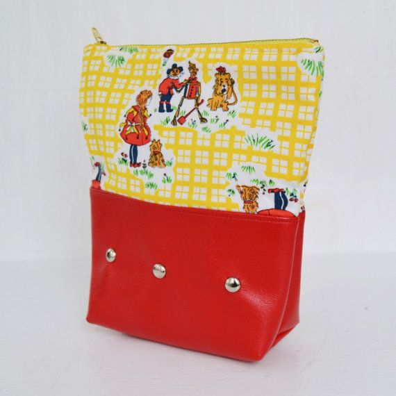 Wizard of Oz Cosmetics Bag or Pencil Case by NevermoreVintage