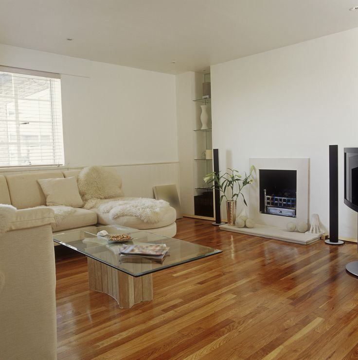 White Contemporary Family Room. Simple FireplaceContemporary Family RoomsLiving  ...