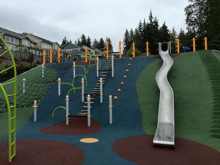 Playground on a Hill: Queenston Park Playground in Coquitlam