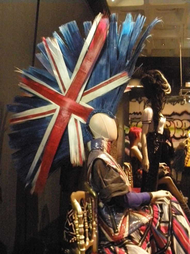 Jean-Paul Gaultier, Barbican, fashion, Union Jack, mohawk, punk