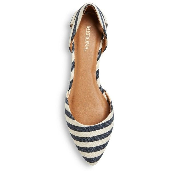 Women's Celina Ballet Flats - Navy/Natural 7 : Target ❤ liked on Polyvore featuring shoes, flats, ballet shoes flats, skimmer flats, navy ballet flats, ballerina shoes and ballet pumps