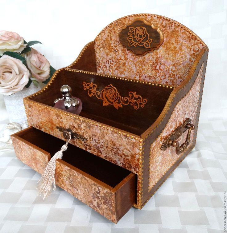 Купить «Узоры и розы» Мини-комод для украшений, винтаж - элегантный, женственный, подарок, подарок девушке