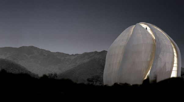 Rendition of the Baha'i House of Worship being built in Chile by Hariri Pontarini Architects