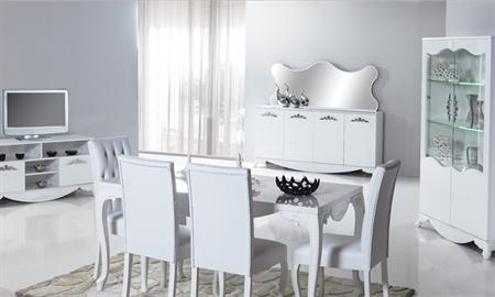 Avangard yemek odası takımı olarak çok şık ve estetik bit görünüm sergileyen bu orijinal model, yılın en çok beğenilen ve tercih edilen tasarımlarından biridir.