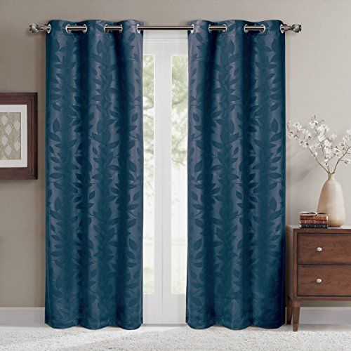 Pair of Two Top Grommet Contemporary Virginia Blackout We...
