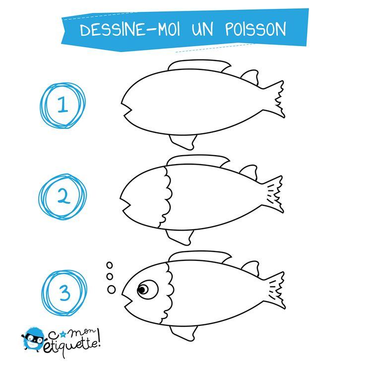 10 best mer images on pinterest dessiner poissons et animaux marins - Dessiner des poissons ...
