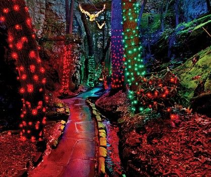 Rock citys enchanted garden of lights chattanooga