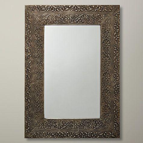 Buy John Lewis Antique Metal Mirror, 52 x 37cm Online at johnlewis.com