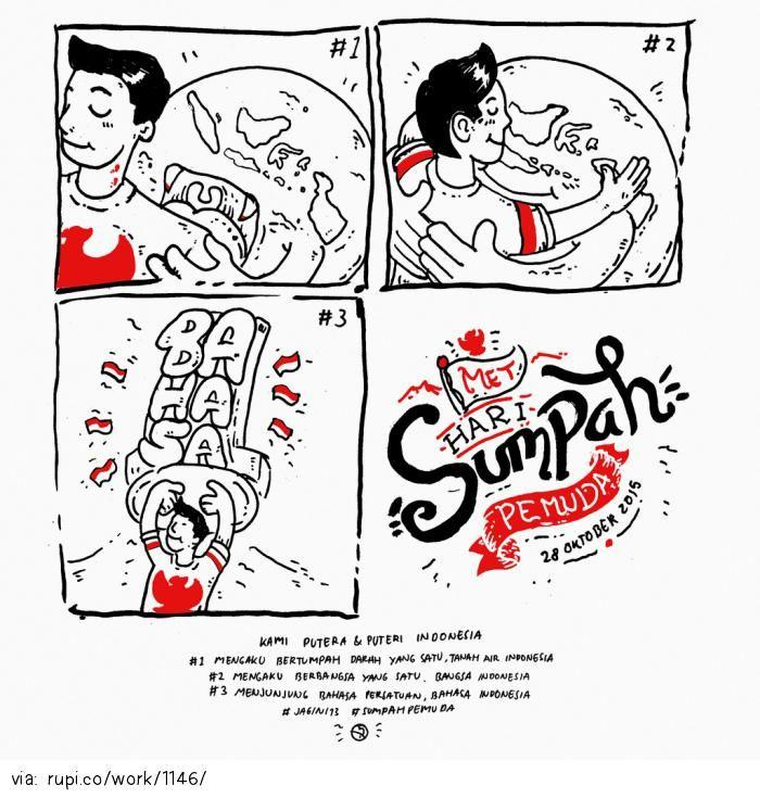 met hari SUMPAH PEMUDA - Rupi - Social Comic Strip @rupidotco
