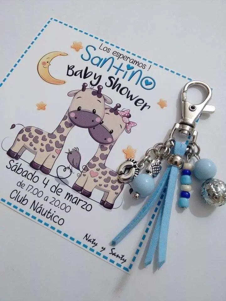 Baby Shower Invitación + Souvenir Llavero Nacimiento Bautism - $ 430,00 en Mercado Libre
