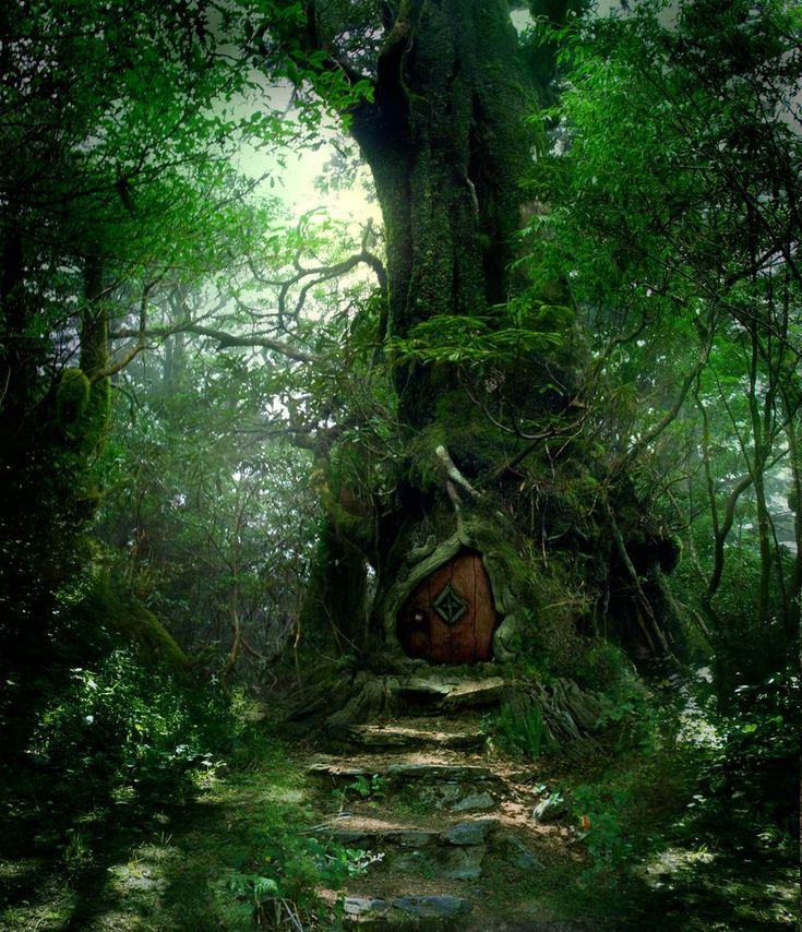 My Elven Kingdom - thebenevolentfaerie:   Forest Door Stock by...