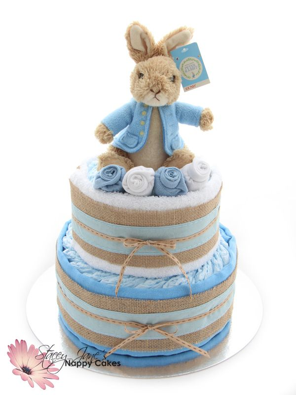 Step into the world of Beatrix Potter and Peter Rabbit with this classic and timeless nappy cake. This has to be one of the most favourite baby icons of all time!
