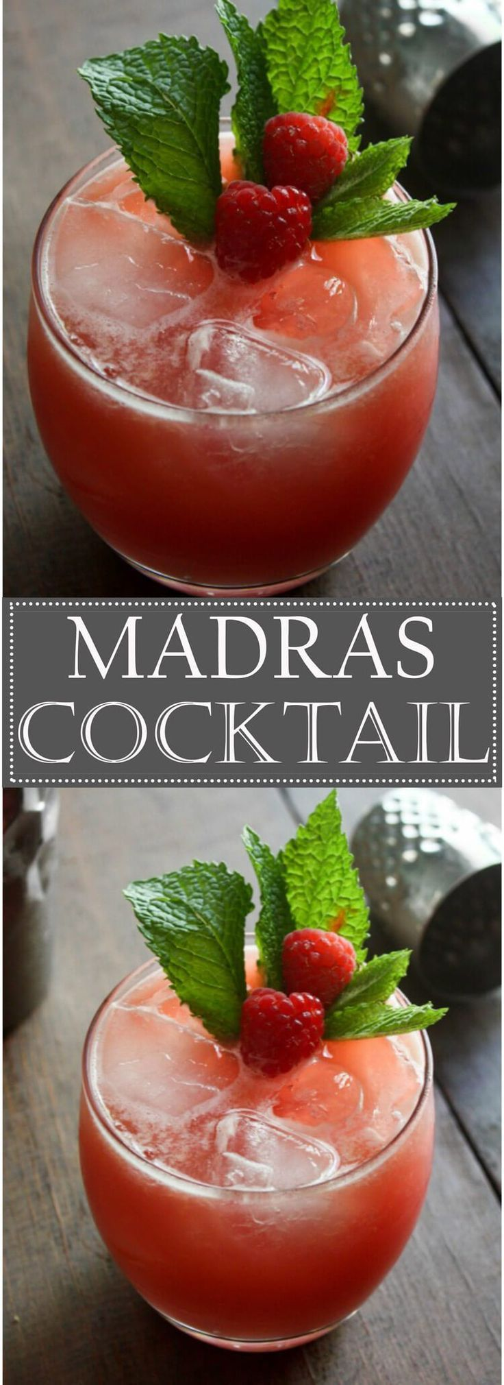 The Madras Cocktail is a blend of Vodka, Orange Juice and Cranberry Cocktail Juice. This sweet mix of flavors is perfect for Summer.