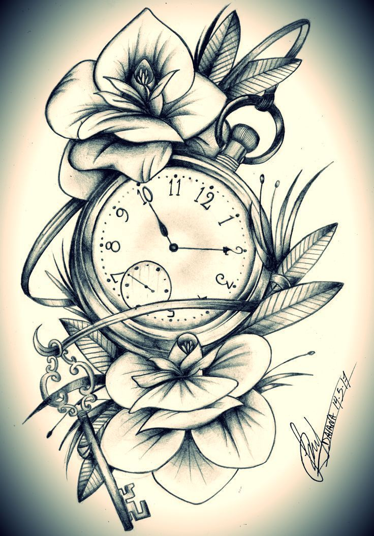 Clock Tattoo – – #Tattoo Ideas – Pictures and Beautiful Places – #Location #pict…