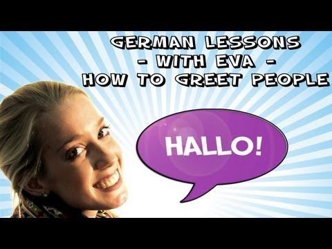 Greetings in German - German Course with Eva, lesson 1 - Girls4Teaching.com