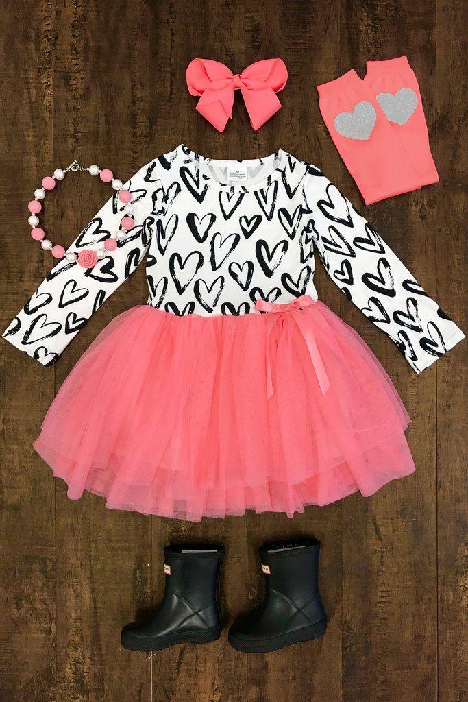 PINK Heart Attack Tutu Dress