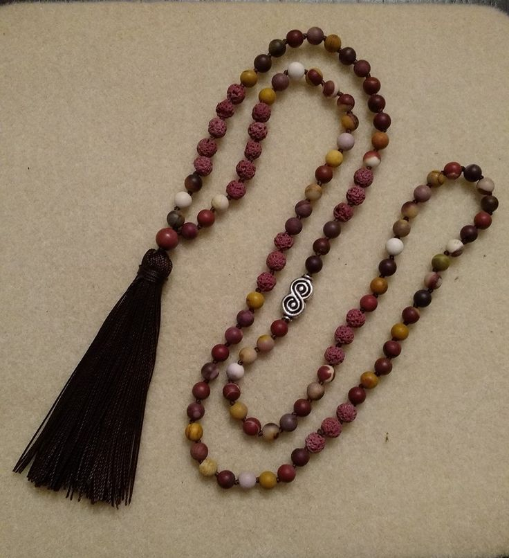 Grounded Mala Matte Mookaite, and Brown Lava Stone