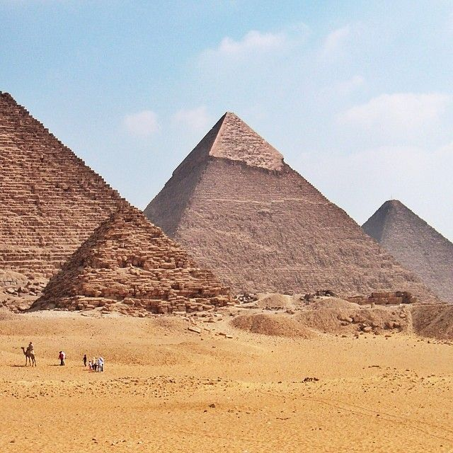 the majestic ancient pyramids of egypt Constructed between 2589 and 2504 bc, the egyptian pyramids of khufu, khafre and menkaure, built in that order, are a testament to ancient planning and engineering.