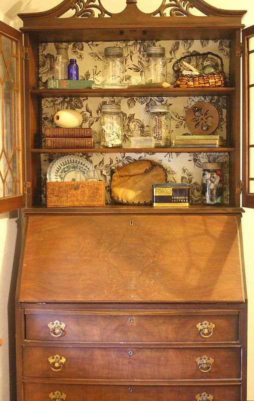 freebie vintage secretary desk with hutch