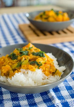 Aubergine, Courgette, Sweet Potato and Lentil Curry | Slimming Eats - Slimming World Recipes
