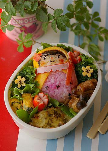 Matoryosika;Russian nesting doll bento was not easy to make. It's like a ninja girl(><)